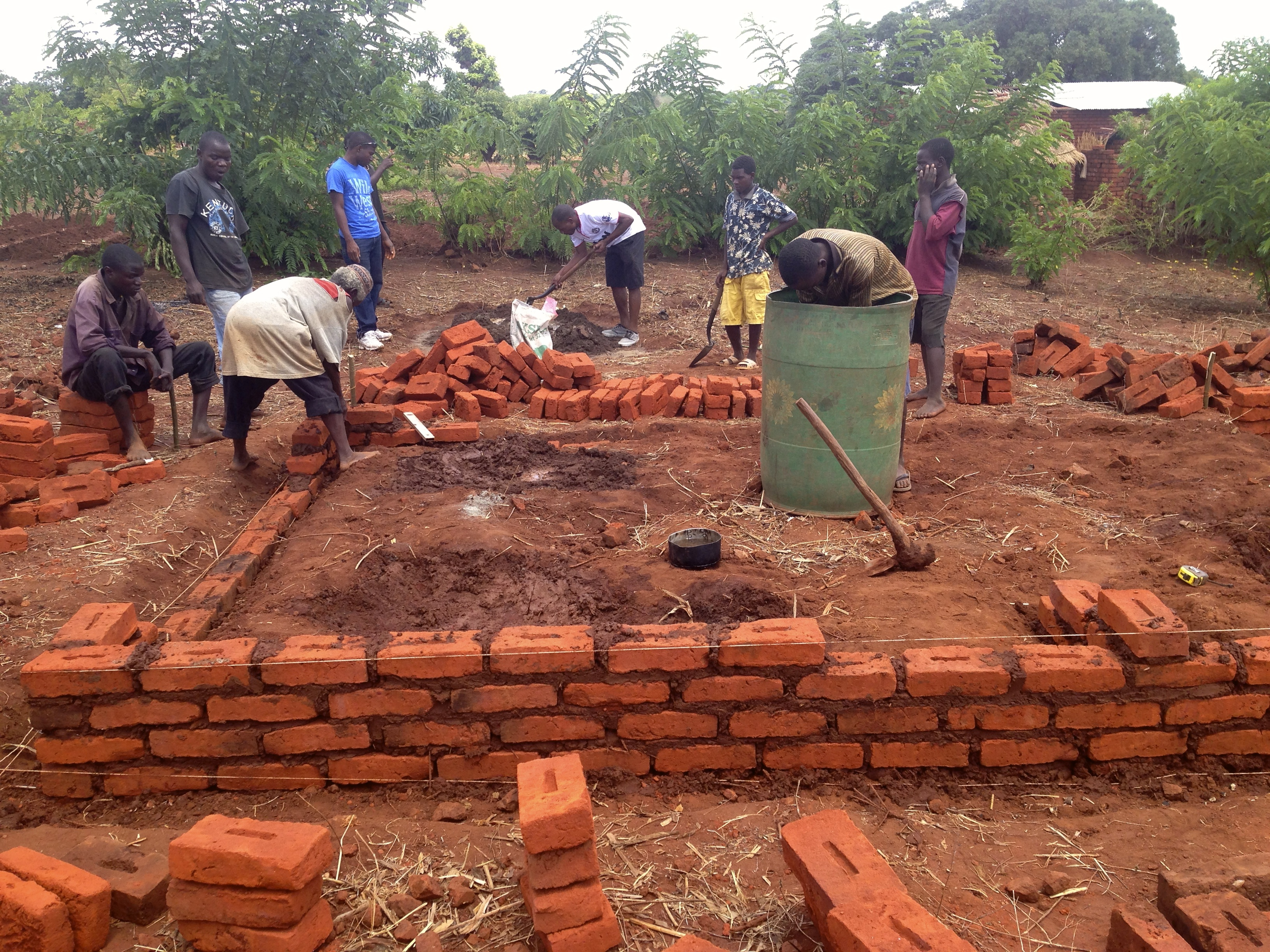 How to build a house in 10 days math in malawi for Help building a house