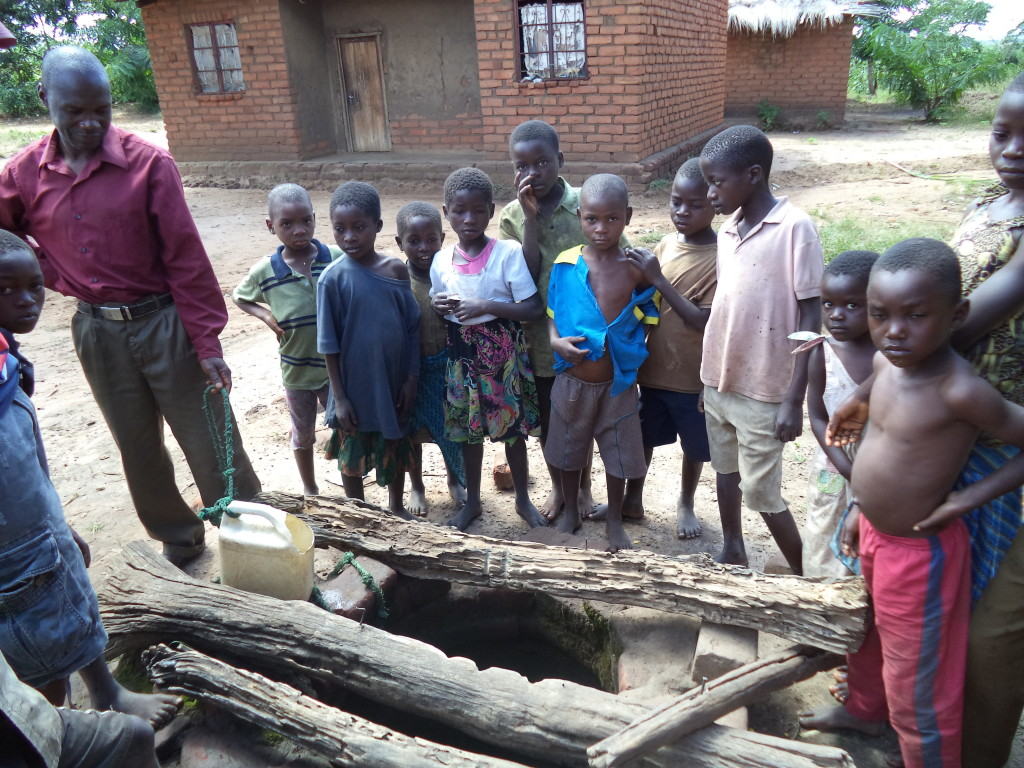 Here's the first well they use. As you can see - they don't even have a covering.